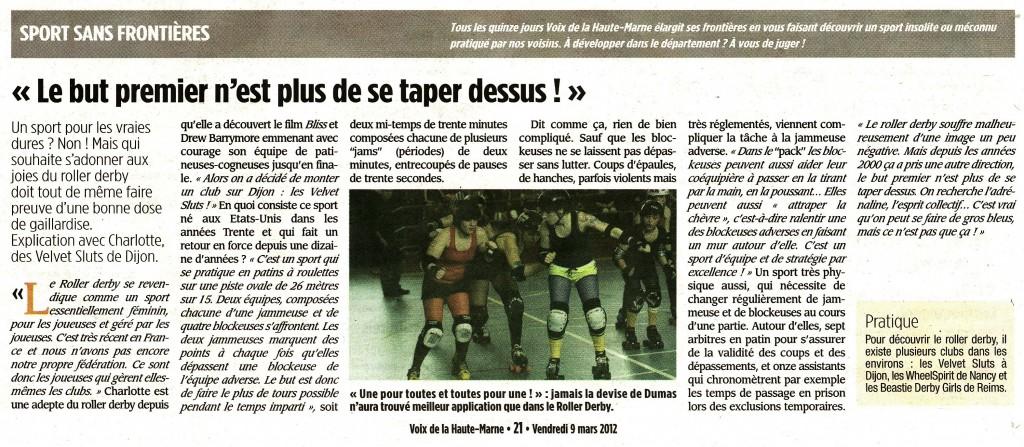 La Voix De La Haute Marne - 09/03/2012